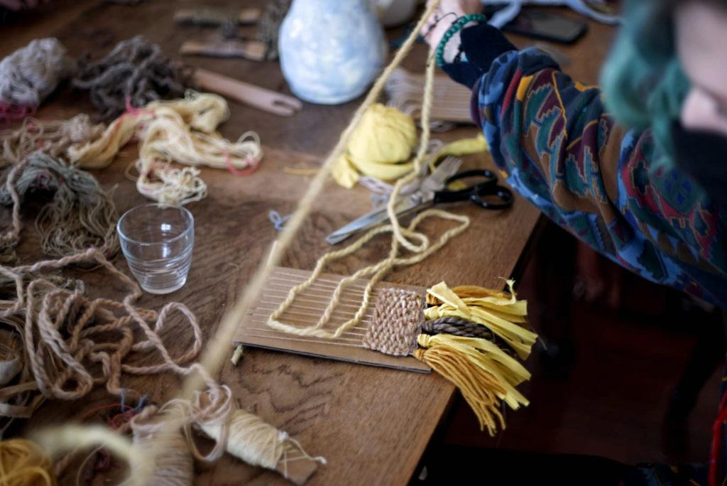 Atelier tissage crous